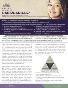 About PANS PANDAS 1 Page handout