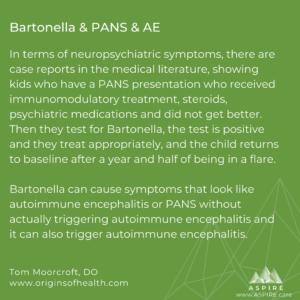 Bartonella & PANS & AE ASPIRE Moorcroft