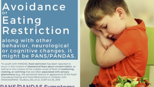 PANS  PANDAS & Eating Disorder/Food Restrictions with Information Packet