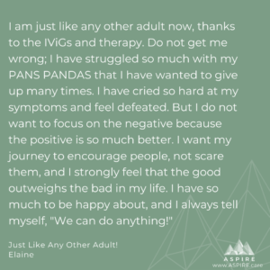 pans pandas patient personal story recovery