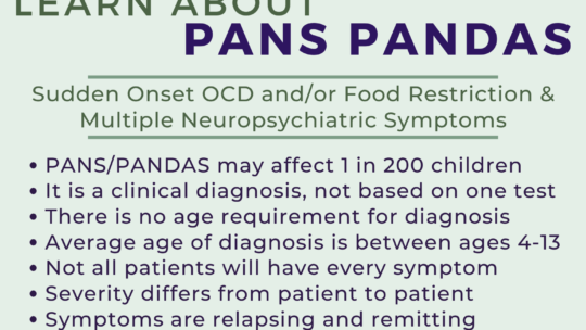 Flyer/Poster – Learn About PANS PANDAS Facts