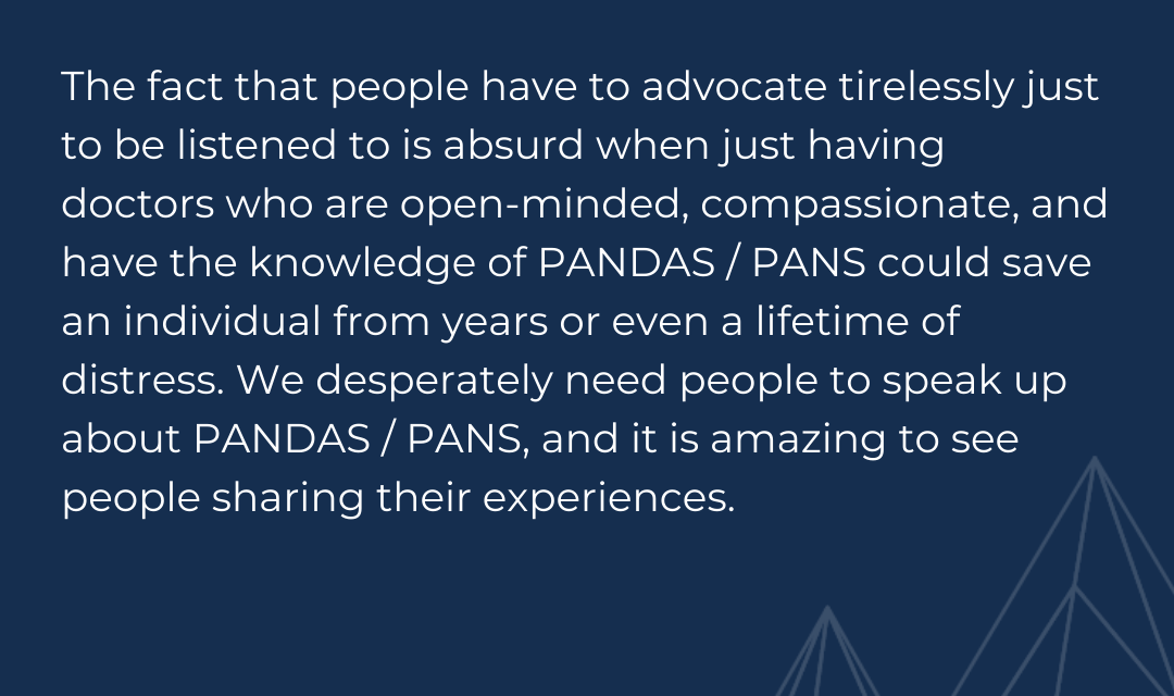 PANS PANDAS Awareness with Romy of Tourettics Unite