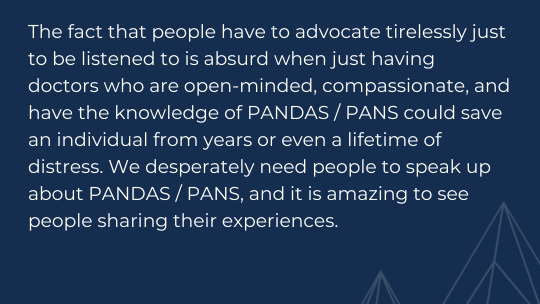 PANS PANDAS Awareness with Romy of Tourettics Unite
